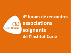 Visuel du 4e forum de rencontre associations-soignants de l'Institut Curie